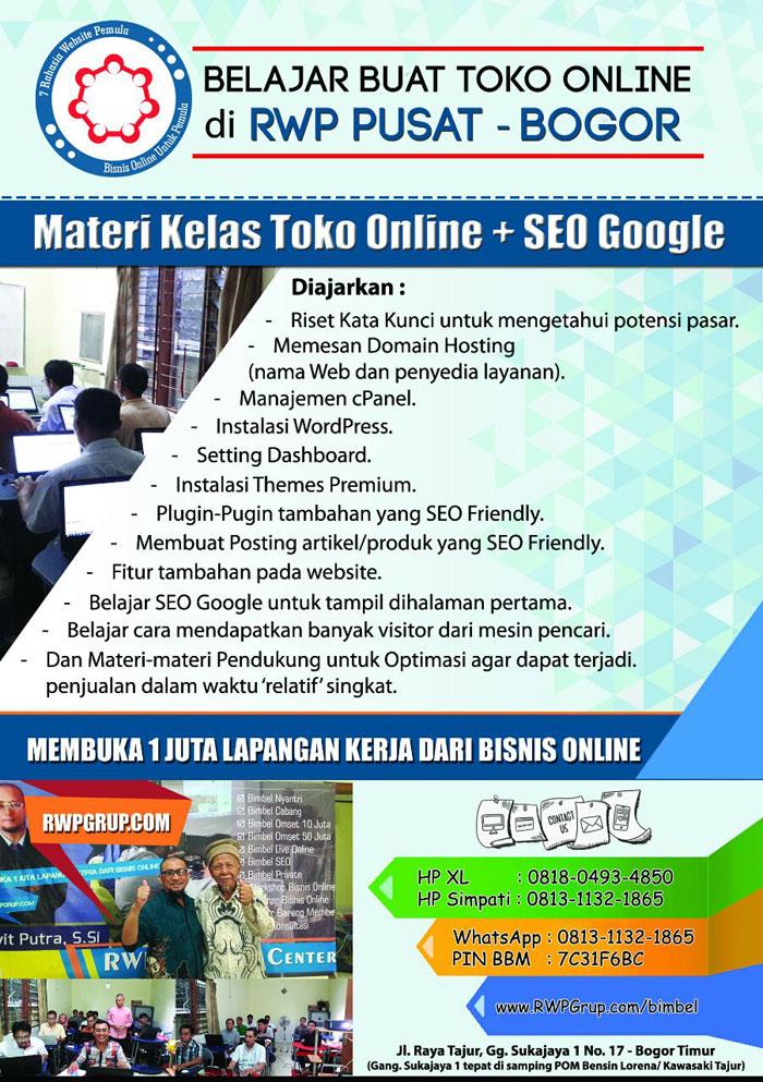 materi kelas toko online