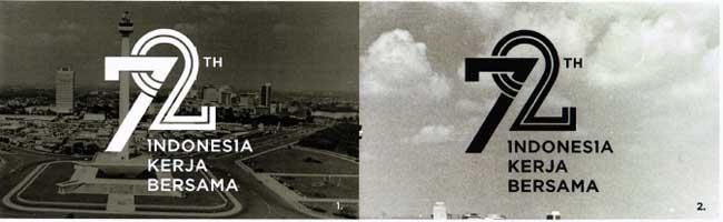 Logo hitam putih HUT Kemerdekaan RI