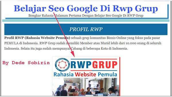 review belajar seo google di rwp
