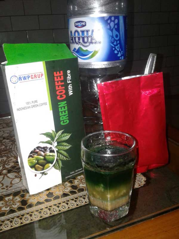 Tes Green Coffee Fiber dg minyak