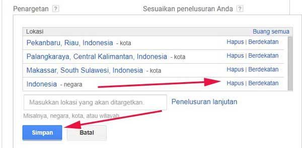 hapus target negara indonesia
