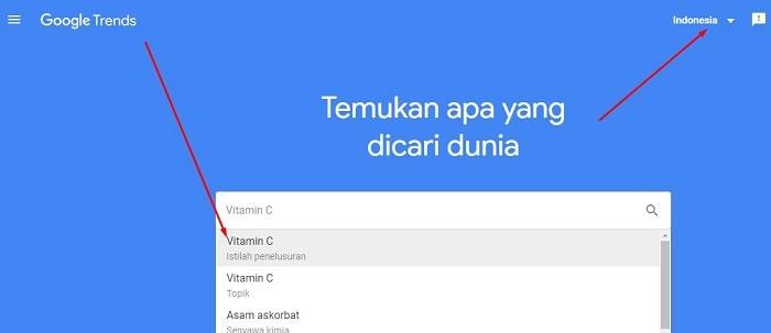 google trend vitamin c