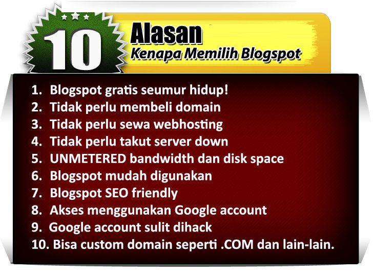 kelebihan blogspot